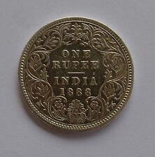 1888 British India Silver 1 Rupee Coin - Victoria Empress -  RARE