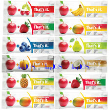 ANY 24 That's It Fruit Bar Many Flavor Apple Mango Banana Pear Coconut Pineapple