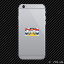 British Columbia Flag Cell Phone Sticker Mobile Die Cut Canada bc province