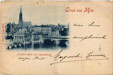 CPA   Gruss aus Metz - Jungfern-Wehr und Mittelbrücke     (455084)