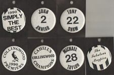 COLLINGWOOD  FC -AFL- COLLECTORS TEAM SUPPORTERS / CHEER SQUAD  METAL BUTTONS  N