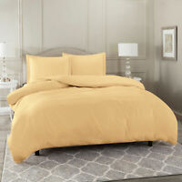Duvet Cover Set Soft Brushed Comforter Cover W/Pillow Sham, Camel - Queen
