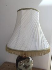 "VINTAGE 1960s PLASTIC TWISTED FRINGED LAMPSHADE 10"" TALL X 11 1/2"" BOTTOM"