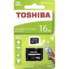 Toshiba M203 16GB Classe 10 UHS-I MicroSD Scheda di Memoria con Adattatore (THN-M203K0160EA)