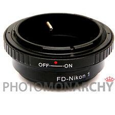 Anello adattatore obiettivo ottiche CANON FD su NIKON 1 NIKON1 S1 J1 J2 J3 V1 V2