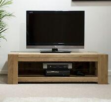 Pemberton solid modern oak furniture plasma television cabinet stand unit