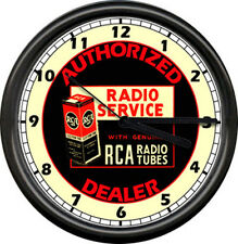 RCA Radio Tube Service Dealer Retro Sign Wall Clock
