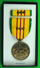 Original Vietnam War Service Medal set - 3 Bronze Campaign Stars & GI Issue Box