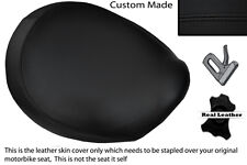 BLACK STITCH CUSTOM FITS TRIUMPH THUNDERBIRD 1600 1700 FRONT LEATHER SEAT COVER