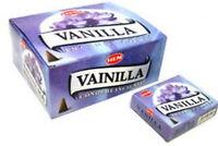Hem Vanilla Incense Cones, Bulk Lot 12 Pack of 10 Cones, 120 Total!