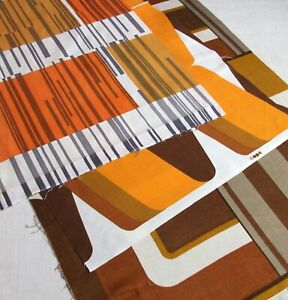 Selection of Vintage 1970s Abstract / Geometric Design Fabrics...