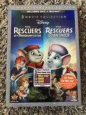THE RESCUERS DOWN UNDER 35TH ANNIVERSARY EDITION DVD & BLU-RAY brand new movie