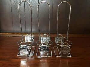 3 x Heinz & HP Condiment Holder / Caddy Restaurant Cafe Diner