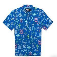 Men's Rebel Leader Blue Small Men's Star Wars Shirt