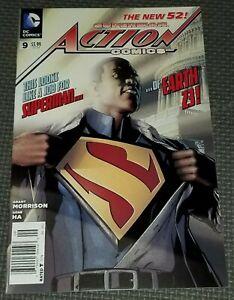ACTION COMICS #9 (2012) New 52 Newsstand Variant DC Calvin Cal Ellis Superman