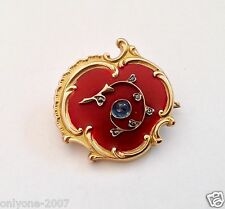 ANTIQUE RUSSIAN 56 GOLD ROCOCO BROOCH 1896-1908 YEARS ENAMEL, SAPPHIRE, DIAMONDS