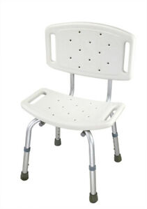 ObboMed Tool-Free Medical Adjustable Bathroom Shower Chair, Bathtub Chair wit...
