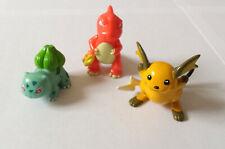 Vintage Pokemon Tomy Figures x 3 - Charizard - Pikachu - Bulbasar *GC*