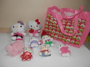 Hello Kitty Beanie Baby and lot of smaller  Sanrio Plush .etc