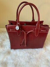 Dooney & Bourke   Alto Tassel Tote leather brick red