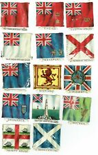 More details for 14 great british flags various die cut paper relife scraps 1880's antique