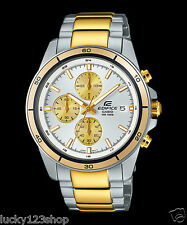 EFR-526SG-7A9 Gold White Casio Watch Edifice stopwatch Date 100m Stainless Steel