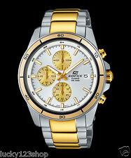 EFR-526SG-7A9 Gold Weiß Casio Uhr Edifice Stoppuhr Datum 100m Edelstahl