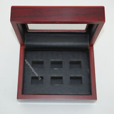 Best Wooden  Box for World Series Stanley Cup Championship Ring 6 holes