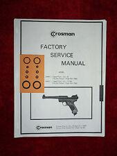 Crosman Mark I Mark II MK 1 2 Two O-Ring Seal Kits +  Service Manual #1 + Guide