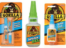 More details for genuine gorilla glue products: multi-purpose super glue and gel, strong adhesive