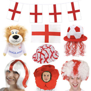 ENGLAND FOOTBALL FANCY DRESS COSTUMES & DECORATIONS EURO 2021 ST GEORGES ADULTS