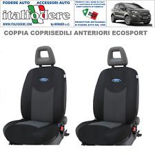 SET COPRISEDILI COMPLETO Adattabili FORD Ecosport Fodere Foderine Nero 38