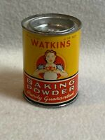 Vintage J.R. Watkins Trial Size Baking Powder Tin for Display