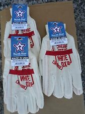 NORTH STAR WHITE OX 1016 GLOVES SIZE Medium 1 pair made in the U.S.A.