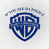 If you see da Police Warn a Brother Cop Blau Auto Vinyl Decal Sticker Aufkleber