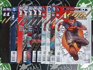 Action Comics Lot Of 60+ Issues #0-18 (2011) DC Comics New 52 Superman Variants