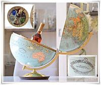 @ Sehr seltener COLUMBUS Erdglobus Globus Minibar Bar Hausbar Brandy @