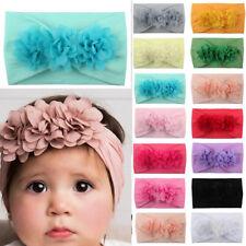 Girls Baby Headband Toddler  Hair Band Chiffon Flower Accessories Headwear WA