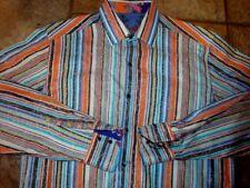 MENS ROBERT GRAHAM MULTI COLOR STRIPED PAISLEY DRESS SHIRT MEDIUM/M