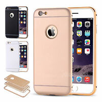 Ultra-Thin Aluminum Metal Bumper Cover + Back Case for iPhone 6 6S iPhone 5 5S