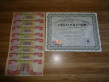 200,000 IRAQI 1/5 MILLION DINAR (8) 25,000 NOTES UNCIRCULATED!! AUTHENTIC! IQD!