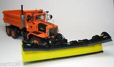 "Oshkosh Snow Plow Dump Truck - 3 Axle - ""ORANGE"" - 1/50 - Sword - Brand New"
