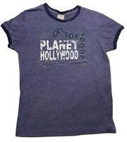 ✨⭐️🔥PLANET HOLLYWOOD Women's Las Vegas Graphic T Shirt  Size XL Blue🔥⭐️✨