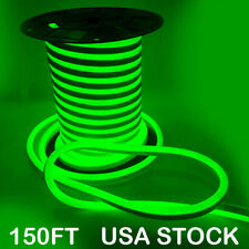 Green 150ft Led Flex Neon Rope Light Holiday Party Bar Shop Outdoor Decor 110V