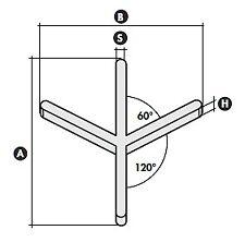 5 Conf.Distanziatori Per La Posa di Piastrelle a Spina Ungherese Art.161Y200G4