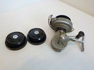 VINTAGE STARO SYSTEM GLASER FISHING REEL SWISS MADE W/2 EXTRA SPOOLS