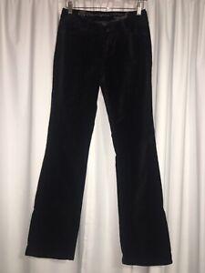 Christopher Blue Pants Jeans Size 4 Black Velvet EUC