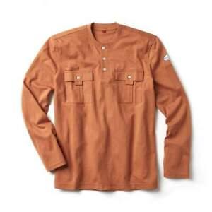 Rasco FR Flame Resistant Long Sleeve Utility Henley T-Shirt