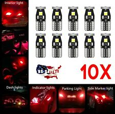 10X - T10 W5W 168 194 2825 LED Bulbs 3030 3SMD LED interior Light - RED