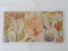 HANDMADE OILCLOTH PENCIL CASE - AUTUMN FLORAL FABRIC